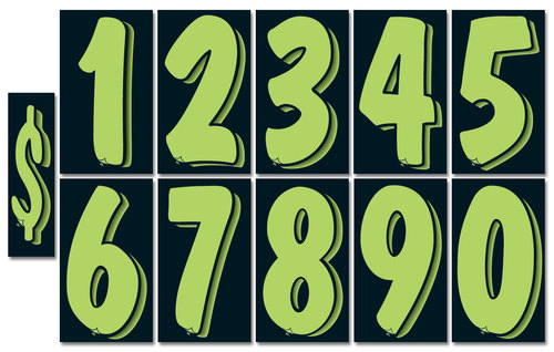 Number window stickers